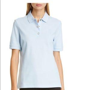 Monogram Motif Cotton Piqué Polo Shirt Burberry